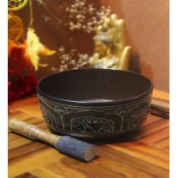 Buda Desenli Tibet Çanağı Singing Bowl