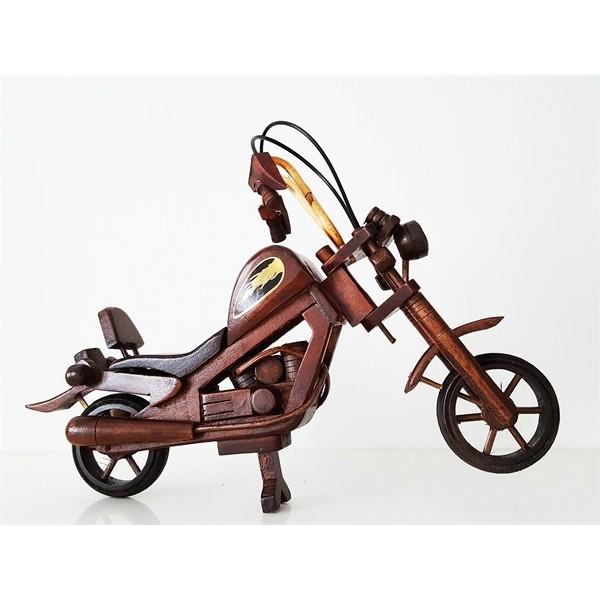 Ahşap Motosiklet Biblo