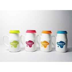 Kapaklı Tasarım Süt Kupalar
