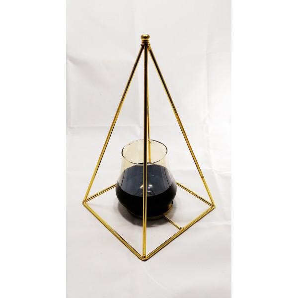 Gold Piramit Şamdan