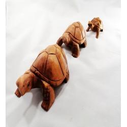 3 Lü Ahşap Kaplumbağa