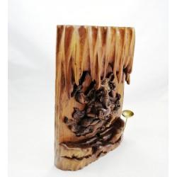 Teak Ağacı Ganeşa Mumluk