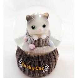Sevimli Kedi Kar Küresi