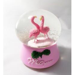 İkili Flamingo Kar Küresi