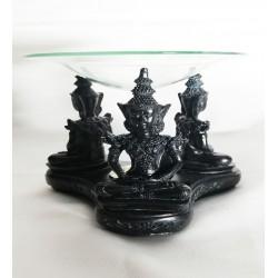Tasarım Çoklu Buda Buhurdanlık Siyah