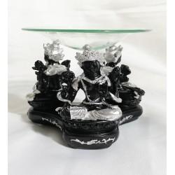 Tasarım Çoklu Buda Buhurdanlık Siyah-Gri
