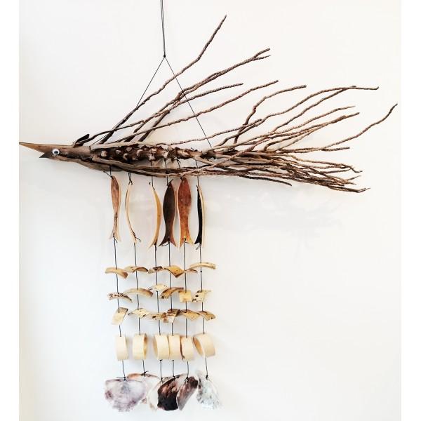 Balık Model Dal Rüzgar Çanı