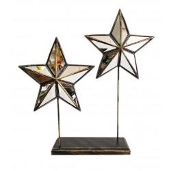 2'li Kaideli Aynalı Yıldız Biblo